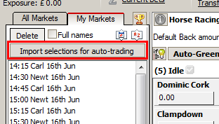 Use this button for importing selections from the tipster's file