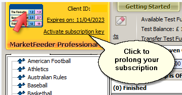 Click to prolong your subscription
